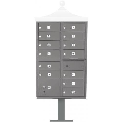 Regency F-Series 13-Door Cluster Box Unit - Gray