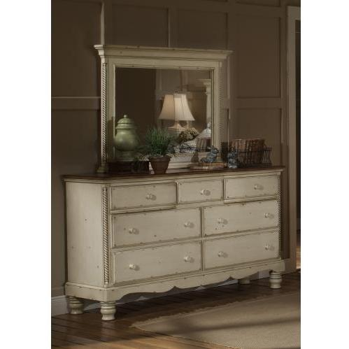 Picture of Hillsdale Wilshire Antique White Triple Dresser - 1172-717