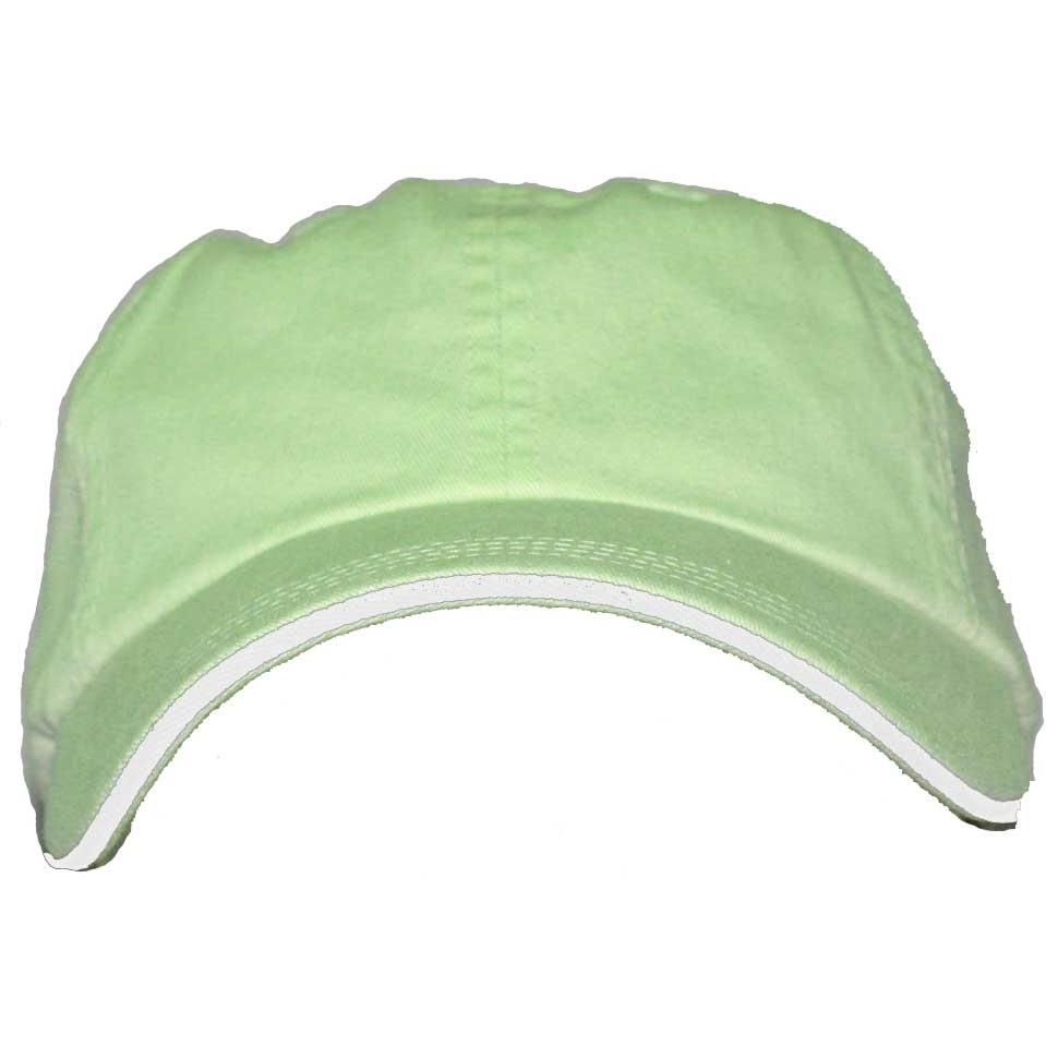 Port Authority Signature Striped Closure Sandwich Bill Cap - Spearmint / White, Discount ID C830-396653