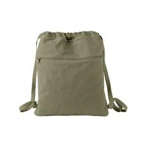 Authentic Pigment Pigment-Dyed Canvas Cinch Sack - Khaki Green