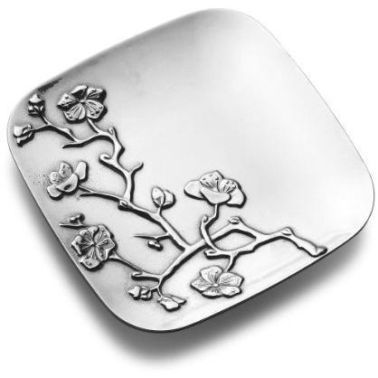 Wilton Armetale Cherry Blossom 11 Square Tray - Polished - 462164