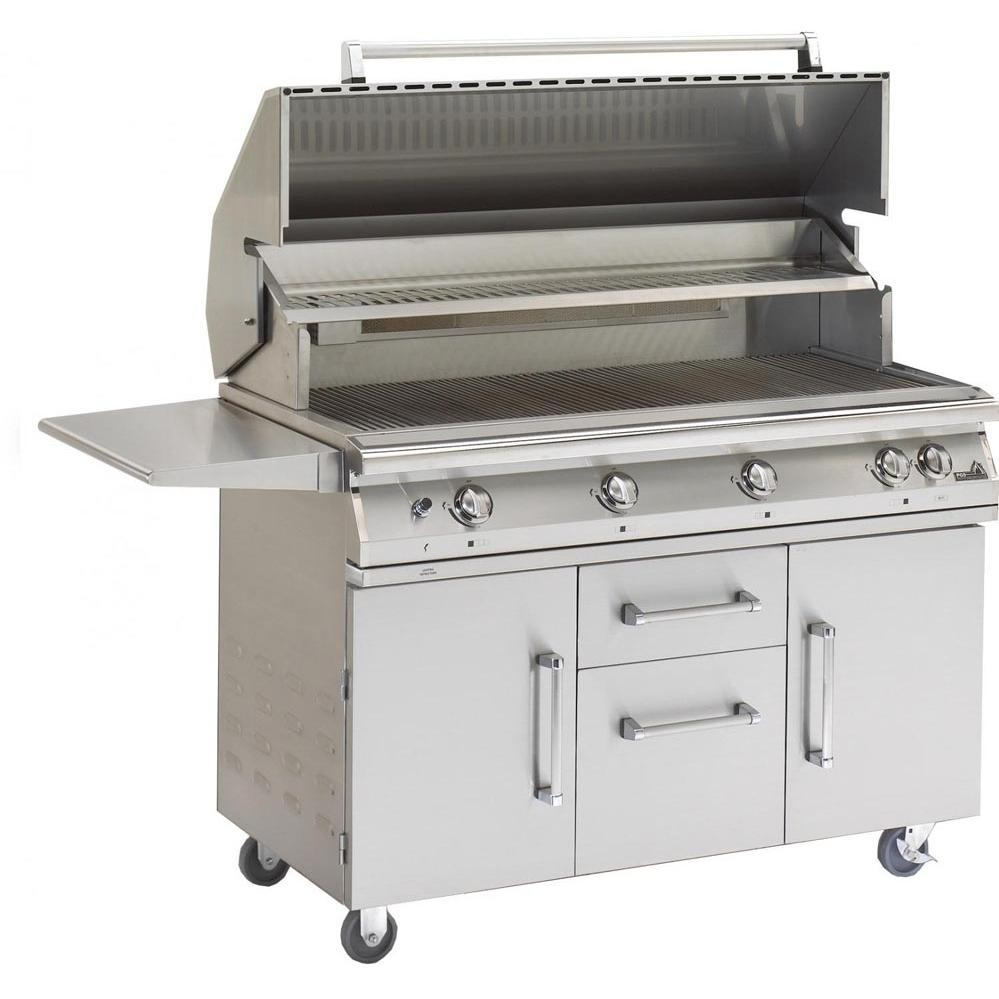 PGS Legacy Big Sur 51-Inch Propane Gas Grill With Infrared Rear Burner And Rotisserie On Cart 1724029