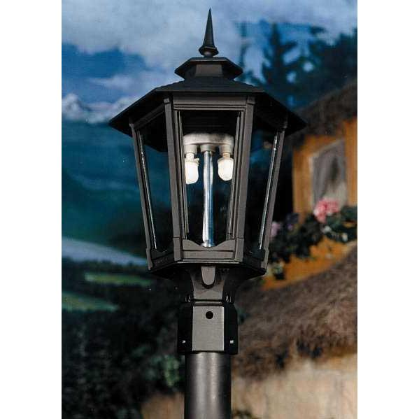Gaslite America GL1600 Cast Aluminum Manual Ignition Natural Gas Light With Dual Mantle Burner For Post Mount