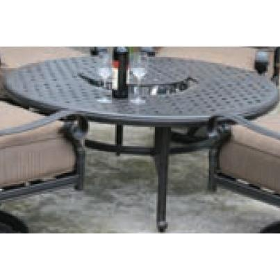 Alfresco Home Weave 52 Inch Beverage Cooler/Fire Pit Chat Table - Antique Fern