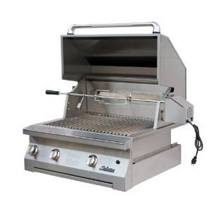 Solaire Gas Grills 30 Inch Built-In All Convection Propane Gas Grill With Rotisserie 2703794