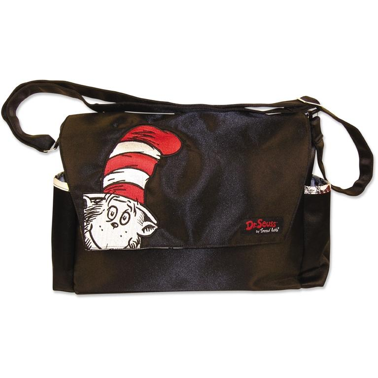 Trend Lab Embroidered Dr Seuss Cat In The Hat Messenger Diaper Bag.