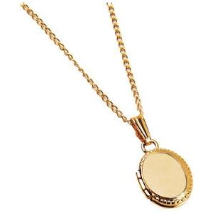 Elegant Baby Infant Gold Oval Locket Necklace