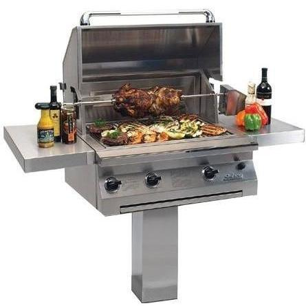 Solaire Gas Grills 30 Inch All Convection Propane Gas Grill With Rotisserie On In-Ground Post 2703798
