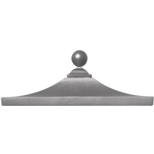 Regency Decorative Top W/ Ball Finial - Gray