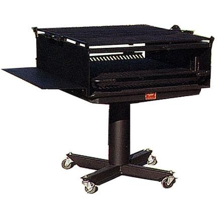 BBQ Guys Campground BBQ Charcoal Grill On Post - L-1500/ S B11