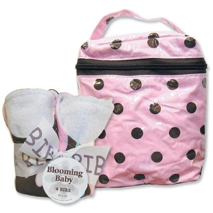Trend Lab Bottle Bag And Bib Set - Maya