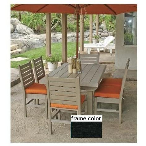 Eagle One Recycled Plastic Cape Cod 60 Inch Patio Dining Set- Black