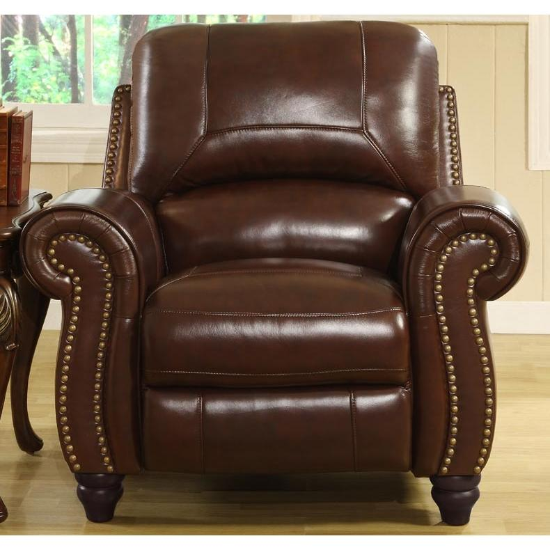 Picture of Abbyson Living Madison Leather Pushback Reclining Armchair - CH-8857-BRG-1