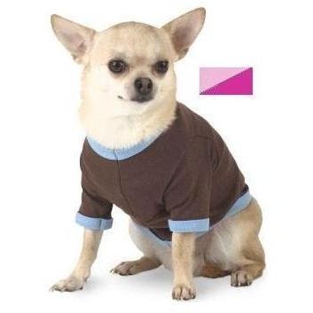 Doggie Skins Ringer T-Shirt Medium - Pink/Raspberry