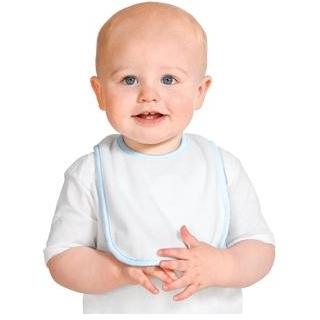 Precious Cargo Terry Baby Bib - Light Blue