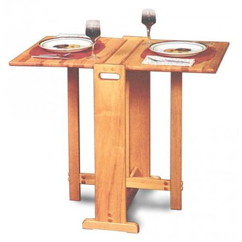 Picture of Fold-A-Way Butcher Block Table
