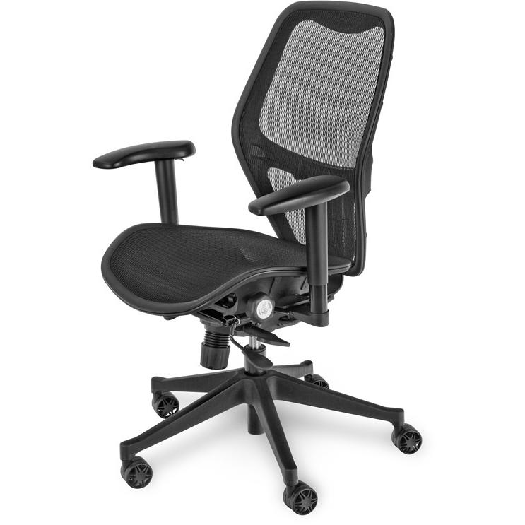 Mac Motion Black Office Chair - CTM-5600-B-SS