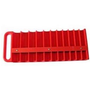 Lisle Large Magnetic 1/2 Inch Socket Tray- RED