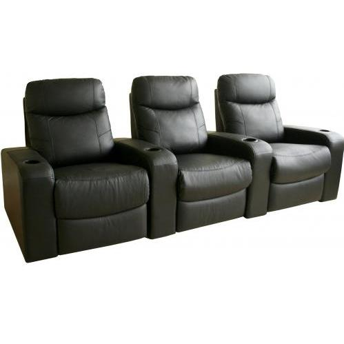 Talyessin Leather Home Theater Recliner Set Of Three InBrown