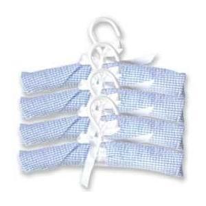 Trend Lab 4-Piece Gingham Seersucker Hangers - Blue