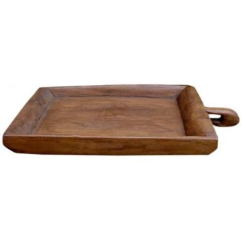Groovy Stuff Square Teak Wood Rice Serving Tray - TF-295
