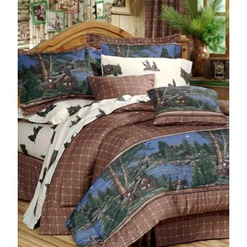Blue Ridge Trading Cabin Retreat Comforter Bedding Set - Full