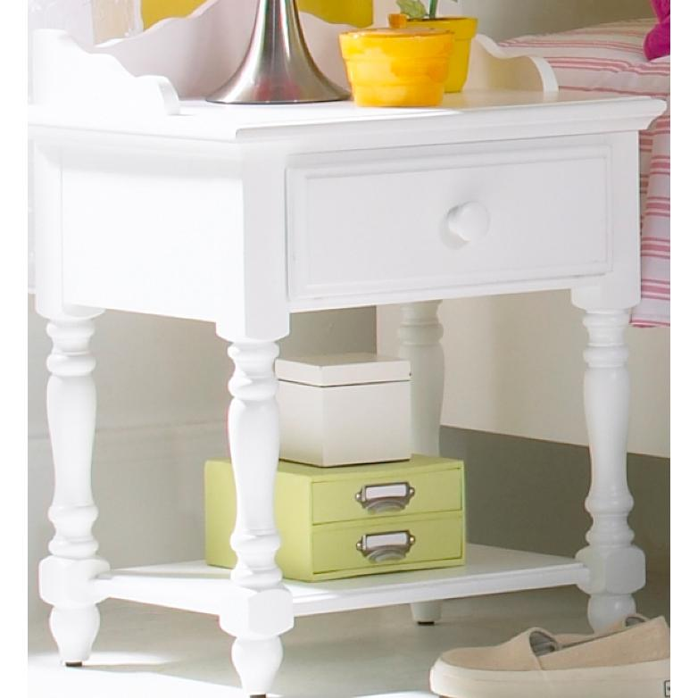 Picture of Hillsdale White Lauren Bedroom Nightstand - 1528-771W