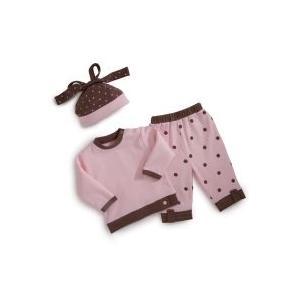 Elegant Baby Fashion Set 12 Month - Pink/Chocolate