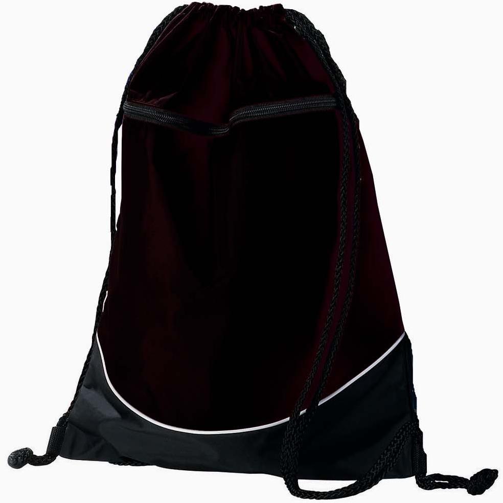Augusta Tri-color Drawstring Backpack - Black