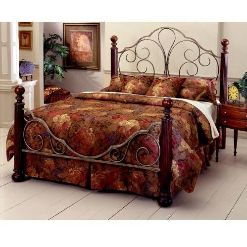 Hillsdale Ardisonne Cherry Wood Poster Metal Bed With Frame - Full - 284BFR