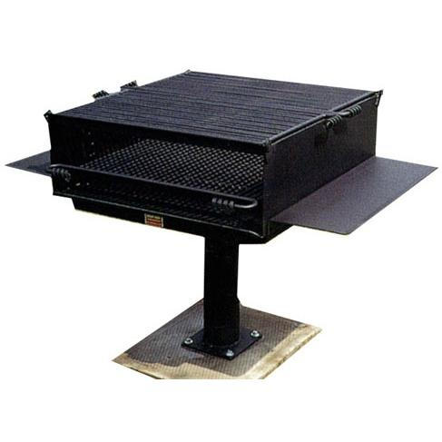 BBQ Guys Campground BBQ Charcoal Grill On Post - L-1500/ S B8
