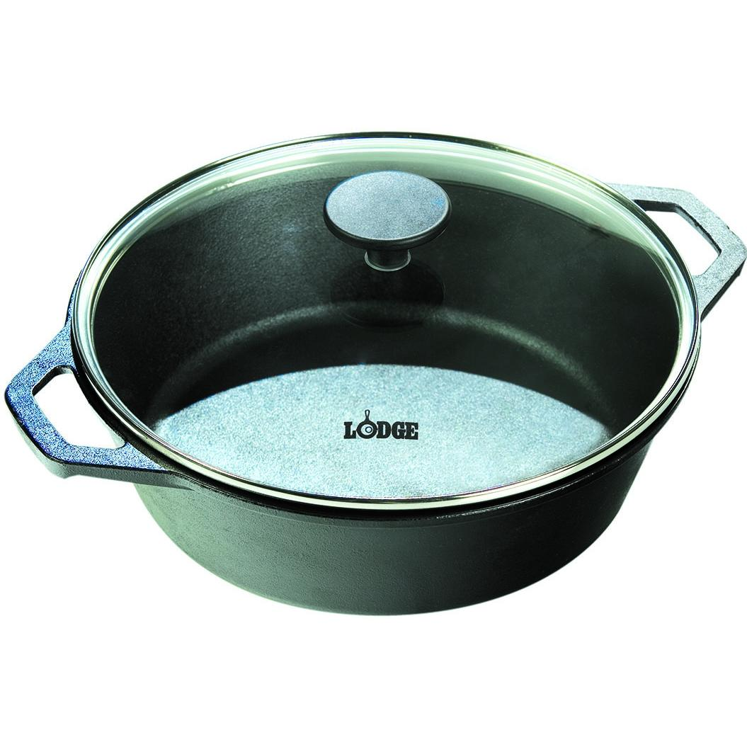 Lodge Dutch Ovens With Glass Lid 7 Quart Logic Cast Iron Dutch Oven - L10D0LG3