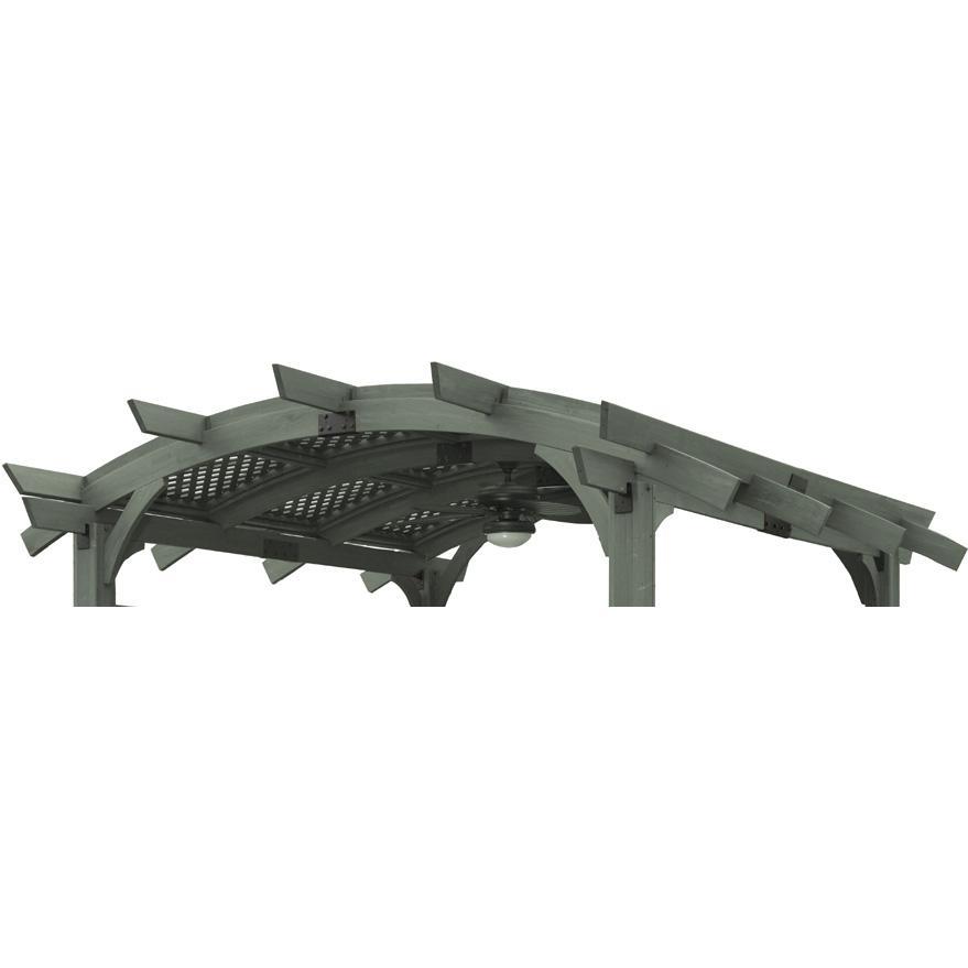 Outdoor GreatRoom Company Lattice Roof For Sonoma 14 X 14 Pergola - Grey Finish