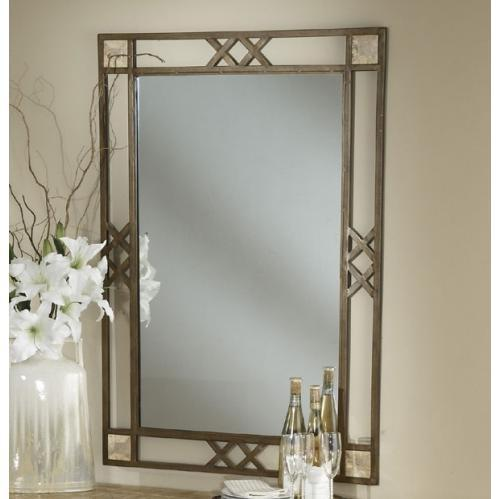 Picture of Hillsdale Brookside Fossil Mirror - Metallic Brown - 4815-890