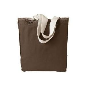 Authentic Pigment Direct-Dyed Raw-Edge Tote - Java