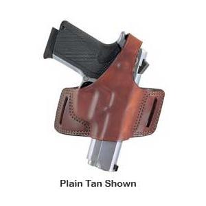 Bianchi 5 Black Widow Leather Holster, Plain Black, Size 10, Left Hand