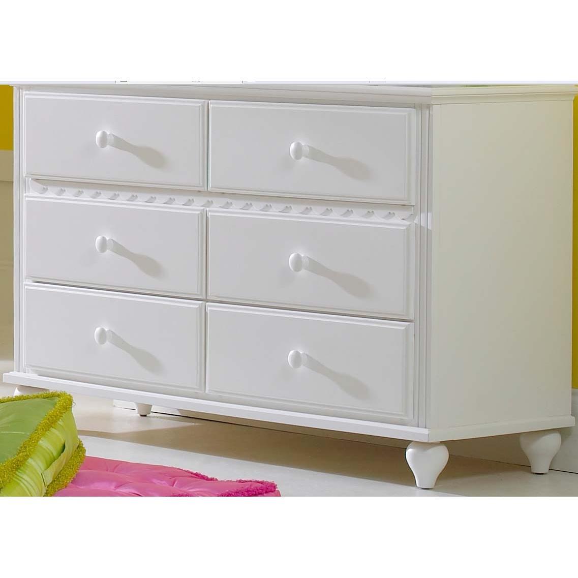 Picture of Hillsdale White Lauren Bedroom Dresser - 1528-717W