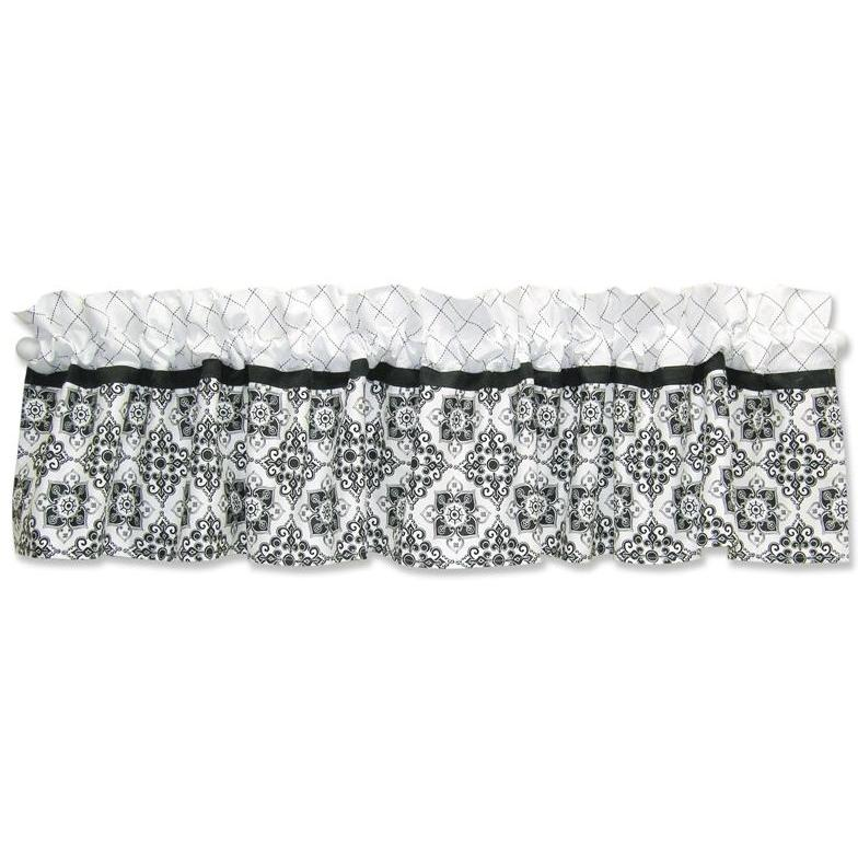 Trend Lab Window Valance - Versailles Black