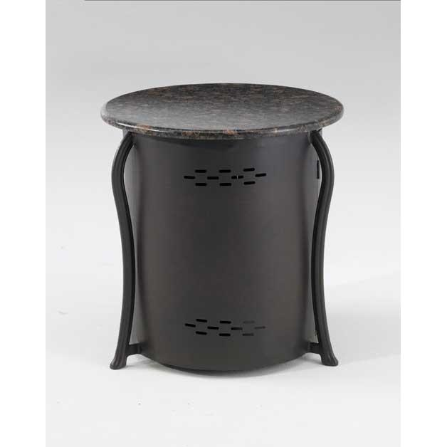 Outdoor GreatRoom Company Chat Table And Propane Tank Cover With Granite Top
