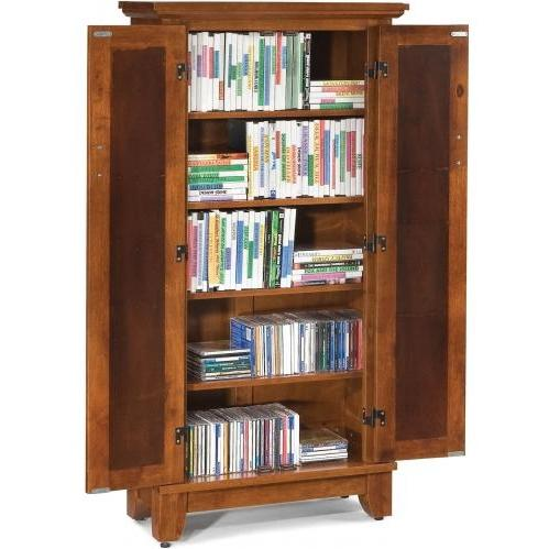 Home Styles Arts And Crafts Media Cabinet - Cottage Oak - 5180-08