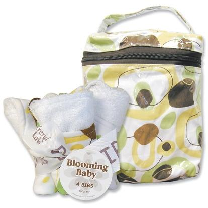 Trend Lab Bottle Bag And Bib Set - Giggles