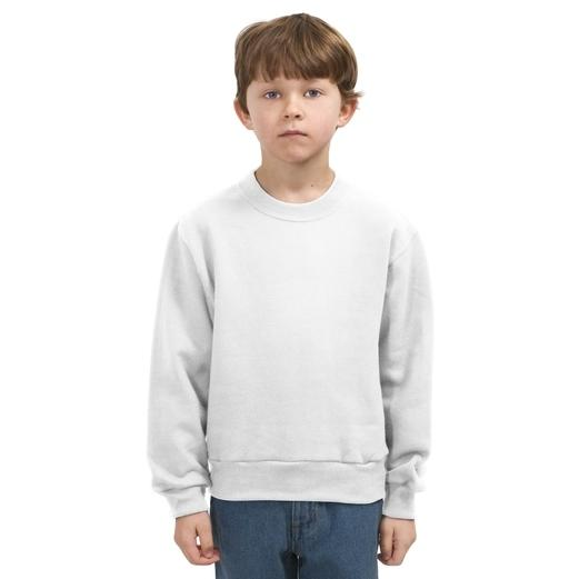 Jerzees Youth Crewneck Sweatshirt Large - White