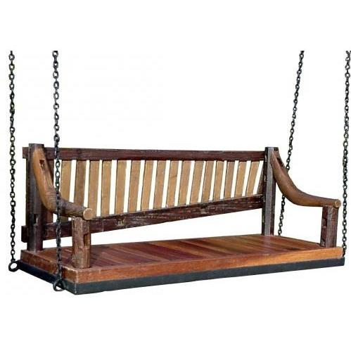 Groovy Stuff Wilderness Teak Wood Swing Bench Seat - TF-024-SW