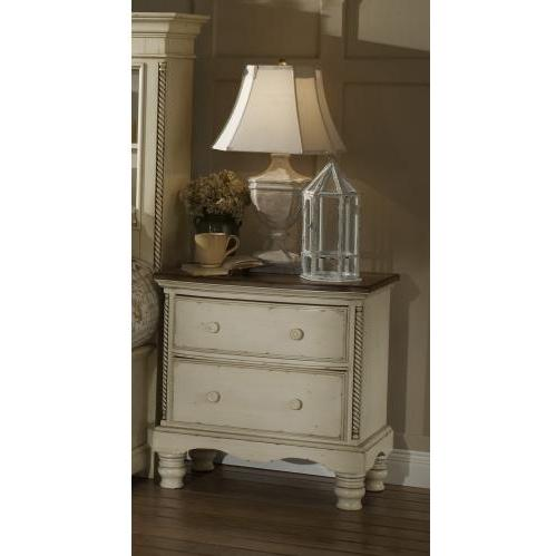 Picture of Hillsdale Wilshire Antique White Nightstand - 1172-771