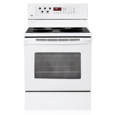 LG Ranges LRE30453SW 30 Inch Freestanding Electric Range With Convection Oven - White