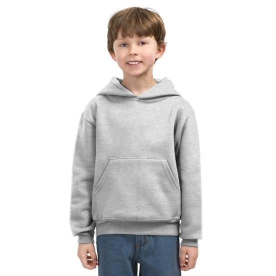 Jerzees Youth Pullover Hooded Sweatshirt Large - Ash
