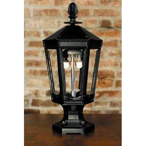 Gaslite America GL1000 Cast Aluminum Manual Ignition Natural Gas Light With Dual Mantle Burner And Pedestal Mount