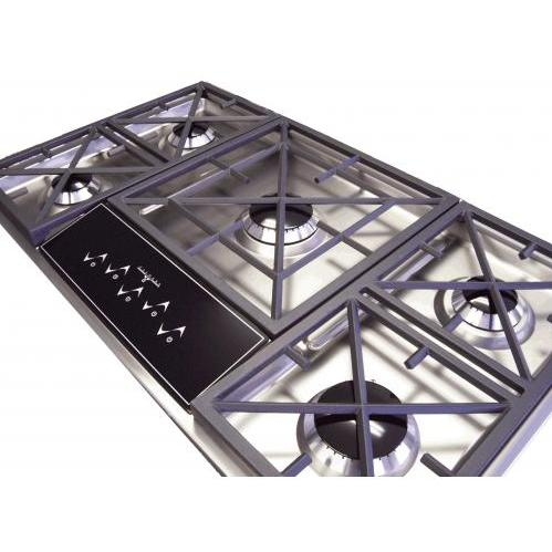 Caldera 36 Inch Five Burner Natural Gas Cooktop With Touch Control