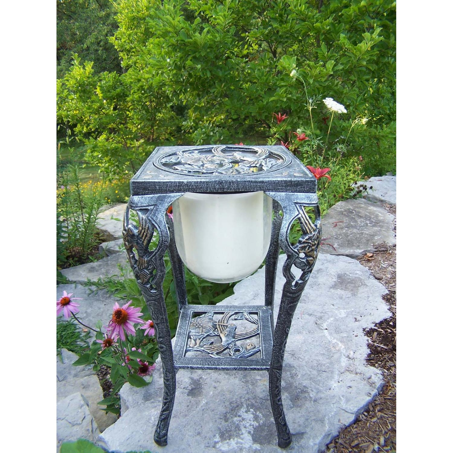 Oakland Living Hummingbird Candle Holder With Candle - Antique Pewter