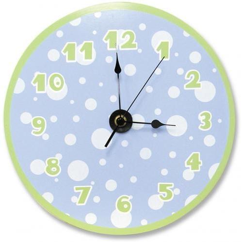 Trend Lab Wall Clock - Blue/Sage Dots